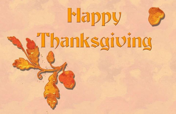 Hope your day is spend with good food and family on this holiday to be thankful.
