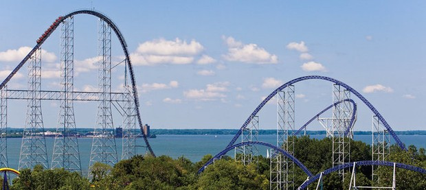 Cedar Point again ranked world's No. 2 amusement park; Millennium Force is second-best steel coaster