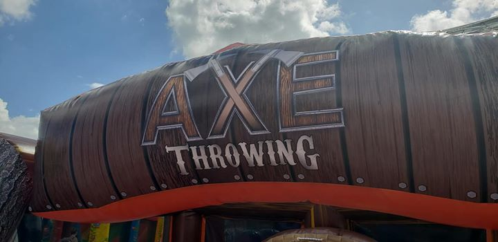 NEW GAMES AT IAAPA!! Eye Candy was the first to release the new inflatable axe t…